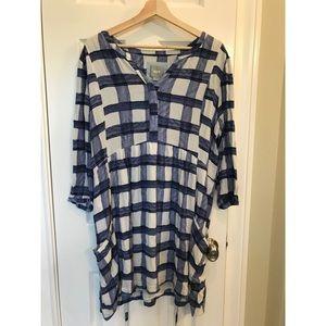 Maeve gingham tunic dress